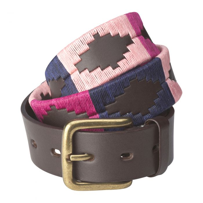 Berry Argentinian Polo Belt