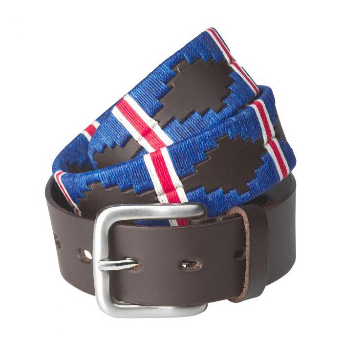 Royal Blue Argentinian Polo Belt