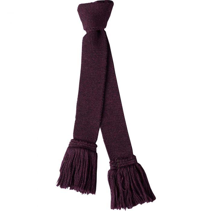 Plum Wool Garter Tie