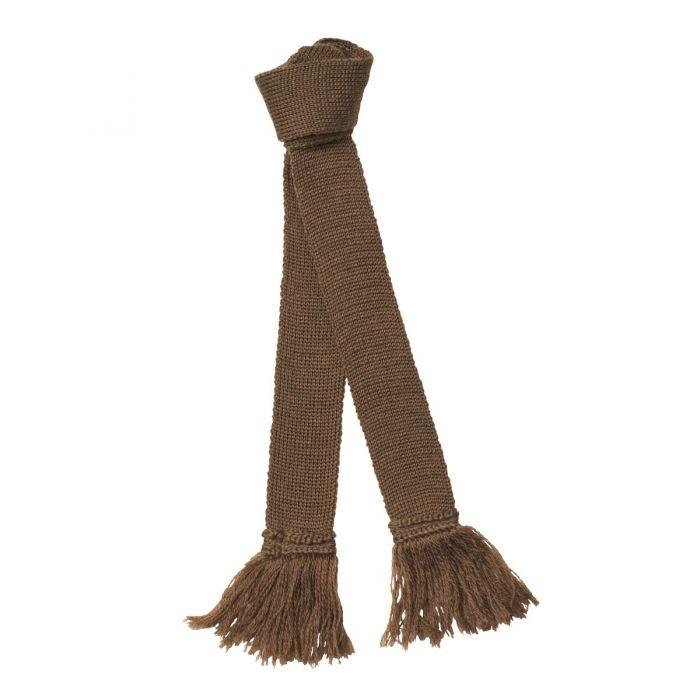 Beige Wool Garter Tie