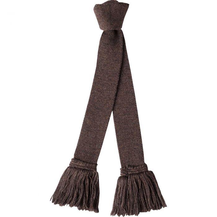 Mocha Wool Garter Tie