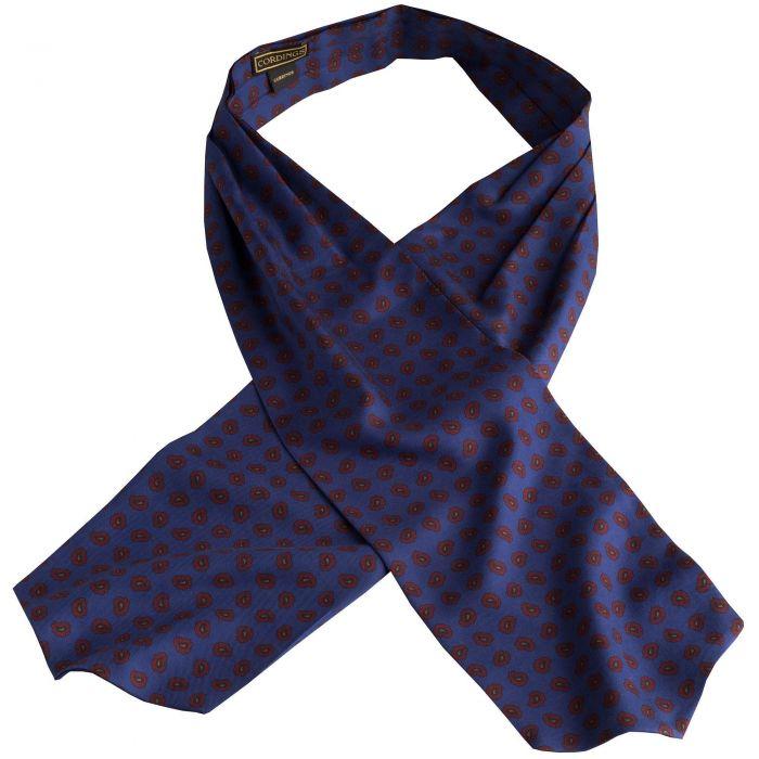 Blue Madder Geometric Silk Cravat