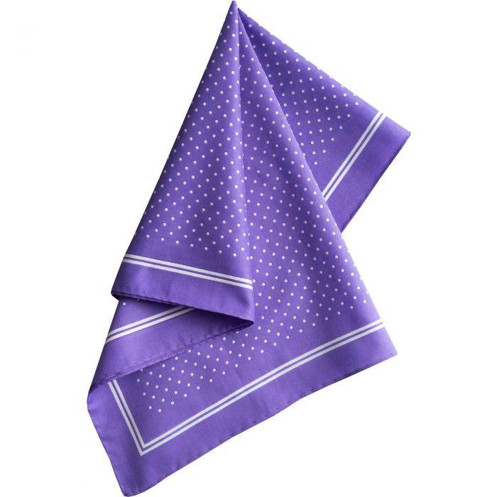 Purple with White Spots Cotton Hank