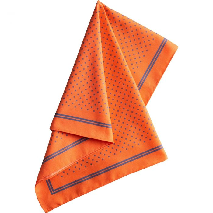 Bright Orange with Blue Spots Cotton Hank