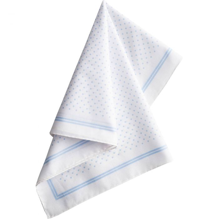 White with Blue Spots Cotton Hank