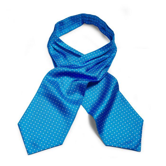 Blue 40oz Silk Spot Cravat