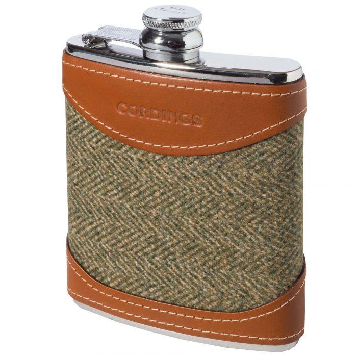 Firley Tweed British Leather 6oz Flask