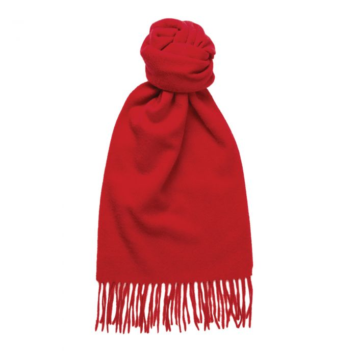 Bright Red Speyside Cashmere Scarf
