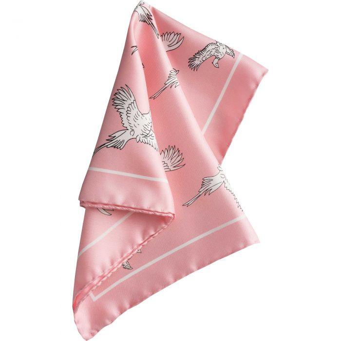 Pink Pheasant Silk Hank
