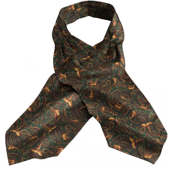 Green Pheasant Silk Cravat