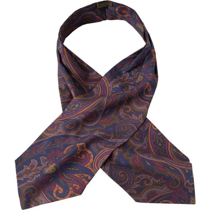 Navy Paisley Madder Silk Cravat