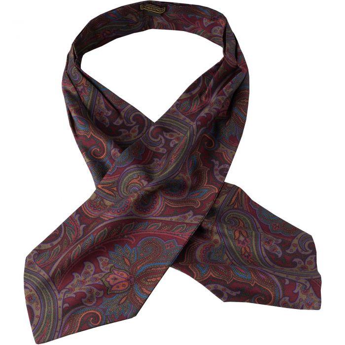 Wine Paisley Madder Silk Cravat