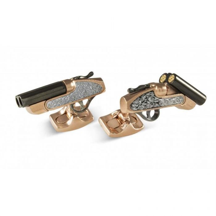 12 Bore Cockable Shotgun Cufflinks