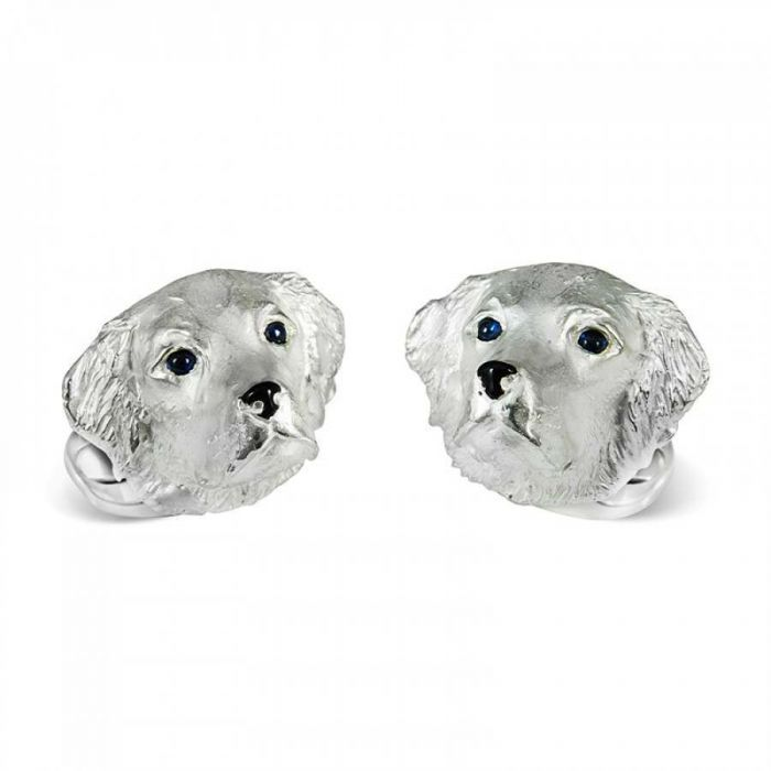 Silver Retriever Cufflinks