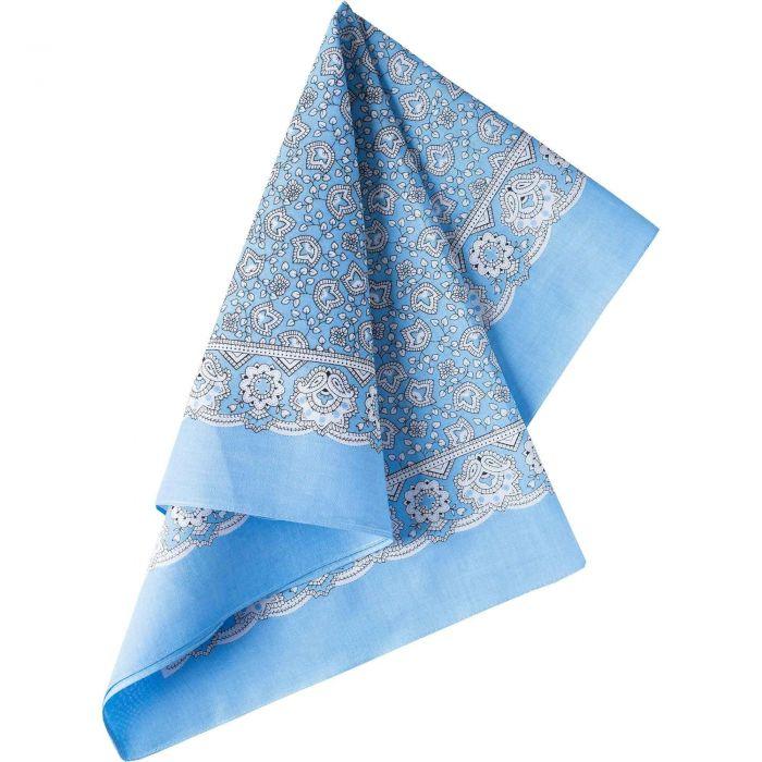 Mid Blue Paisley Cotton Bandana