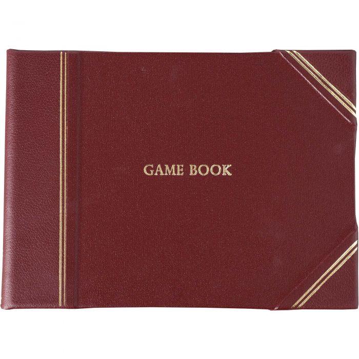 Burgundy Half Bound Leather Game Book
