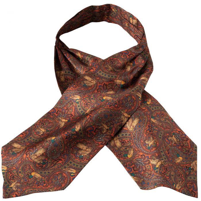Orange Duck Silk Cravat
