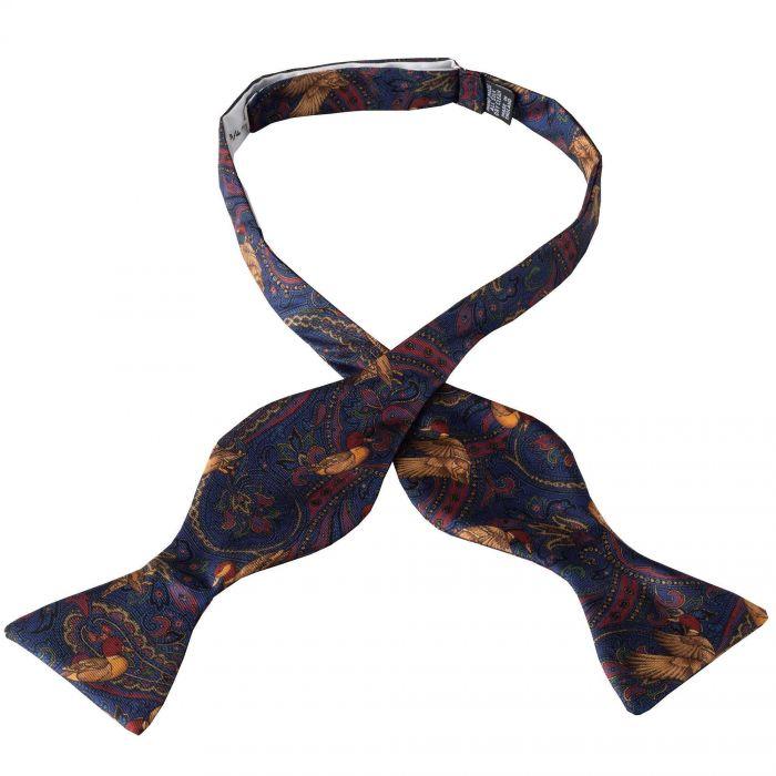 Navy Duck Silk Bow Tie