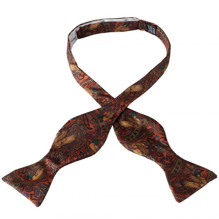 Orange Duck Silk Bow Tie