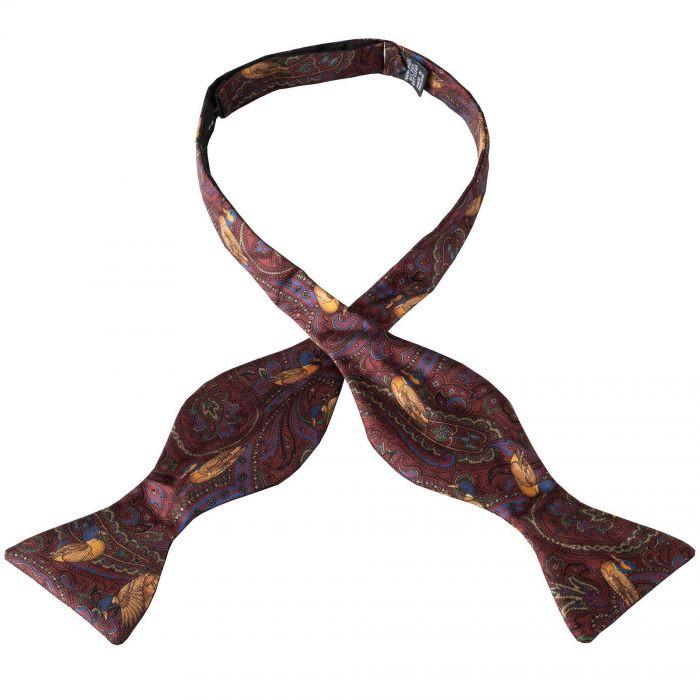 Wine Duck Silk Bow Tie