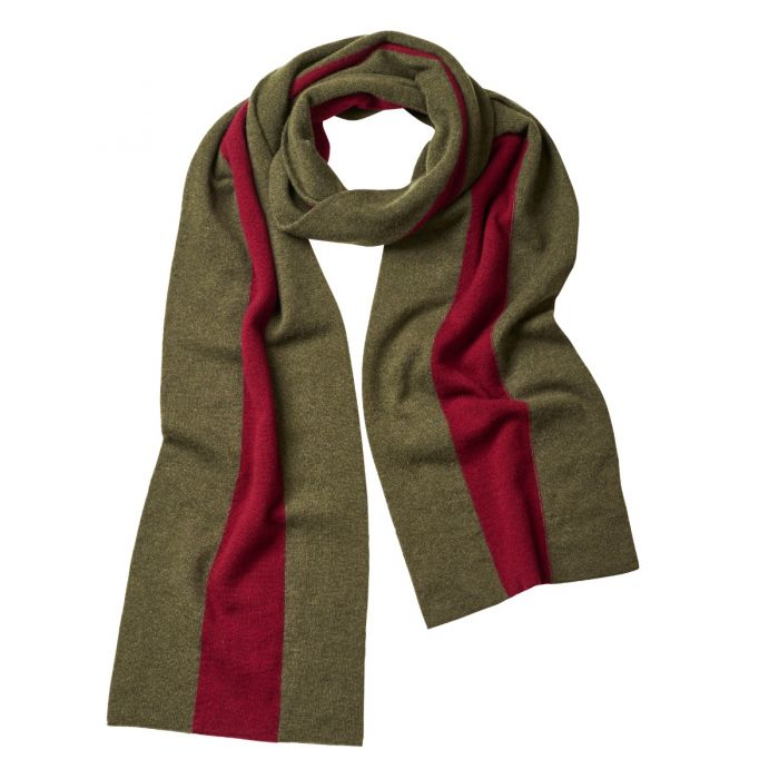 Green Red Cashmere College Scarf