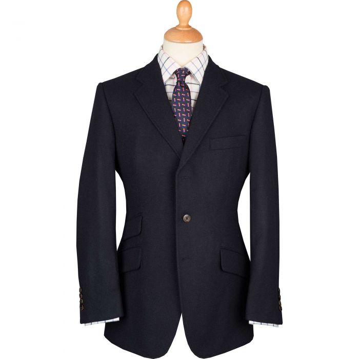 Navy Shetland Tweed Blazer