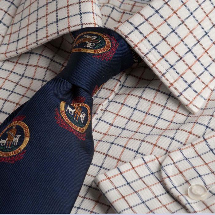 Brown Blue Small Tattersall Shirt