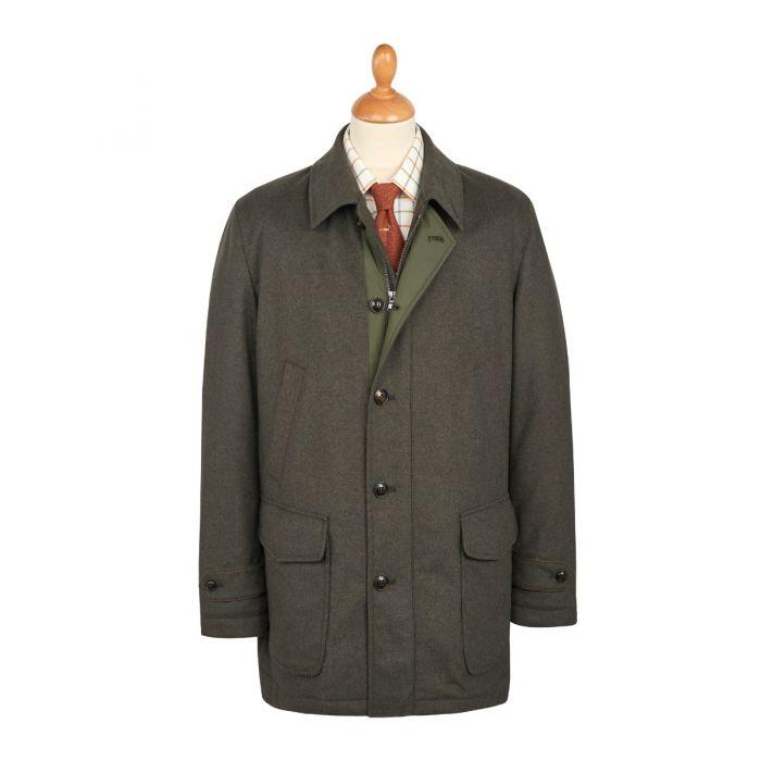 Green Harold Wool & Cashmere Waterproof Coat