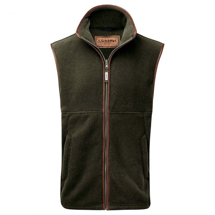 Schoffel Hunter Green Oakham Fleece Gilet