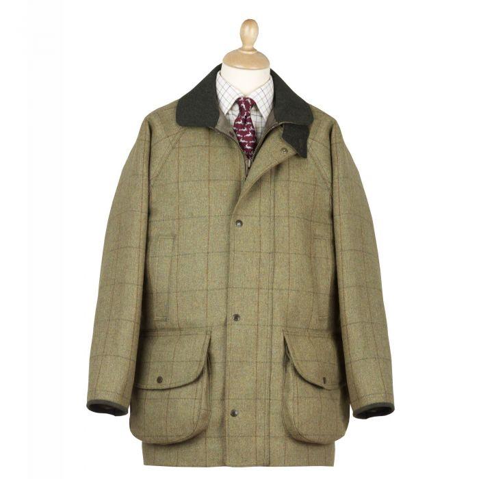 21oz Windowpane Tweed Check Field Coat