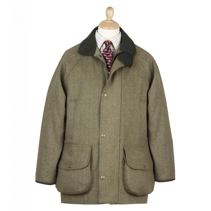 Firley Herringbone  Tweed  Field Coat