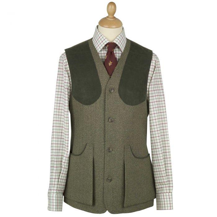 Firley Herringbone Tweed Shooting Waistcoat