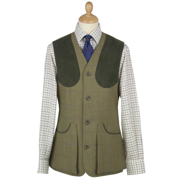 House Check Tweed Shooting Waistcoat
