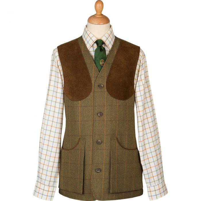 Sporting Check Tweed Shooting Waistcoat