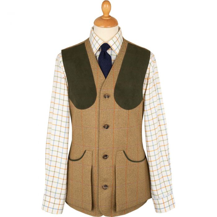 Jones Marl Tweed Shooting Waistcoat