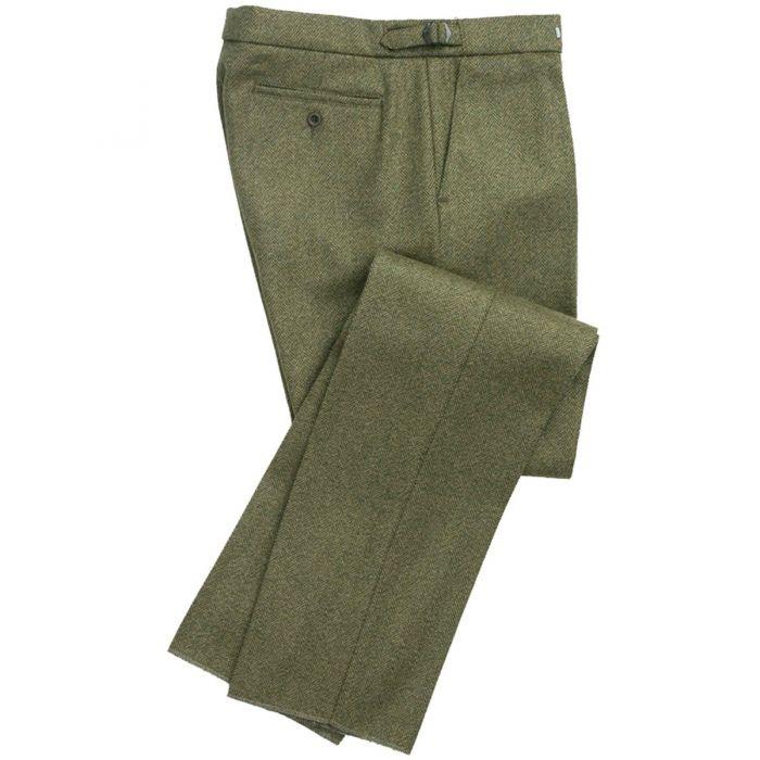 Firley Herringbone Tweed Trousers