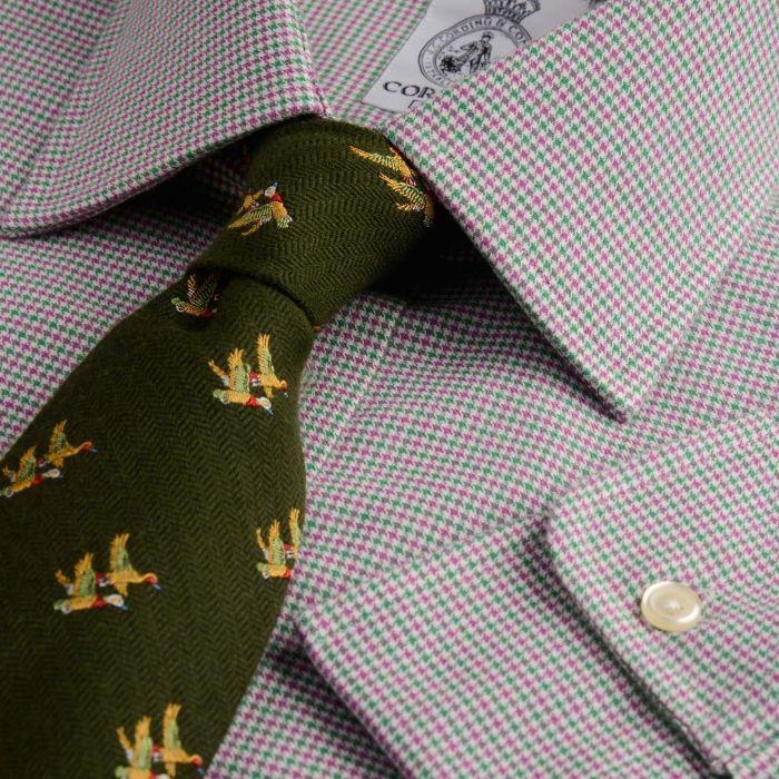 Green Puppy Dog Check Flannel Shirt