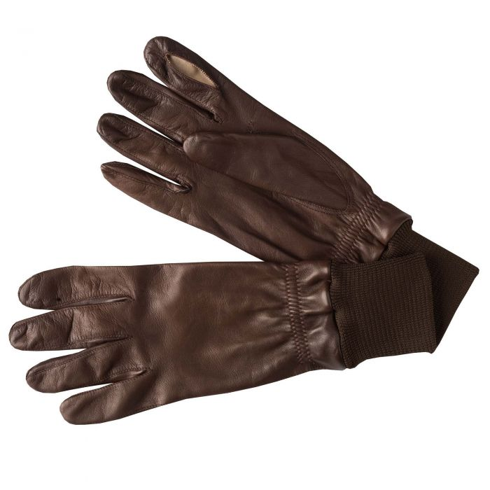 Brown Leather Shooting Gloves (Right Handed)
