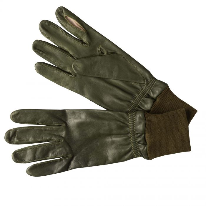 Green Leather Shooting Gloves (Right Handed)