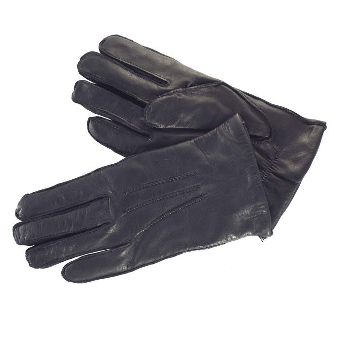 Black Classic Leather Gloves
