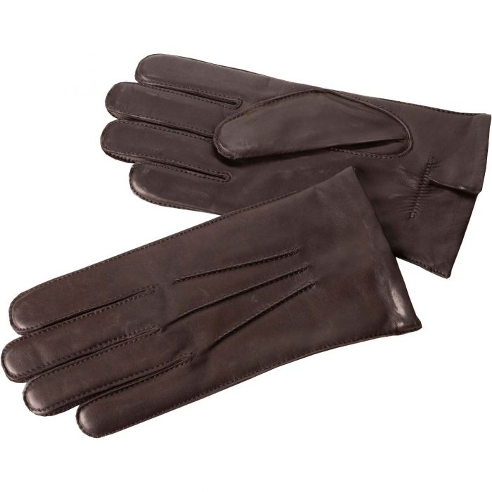 Brown Classic Leather Gloves