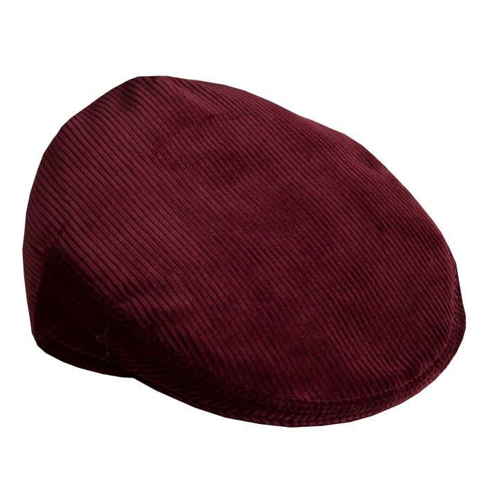 Wine Corduroy Garforth Cap