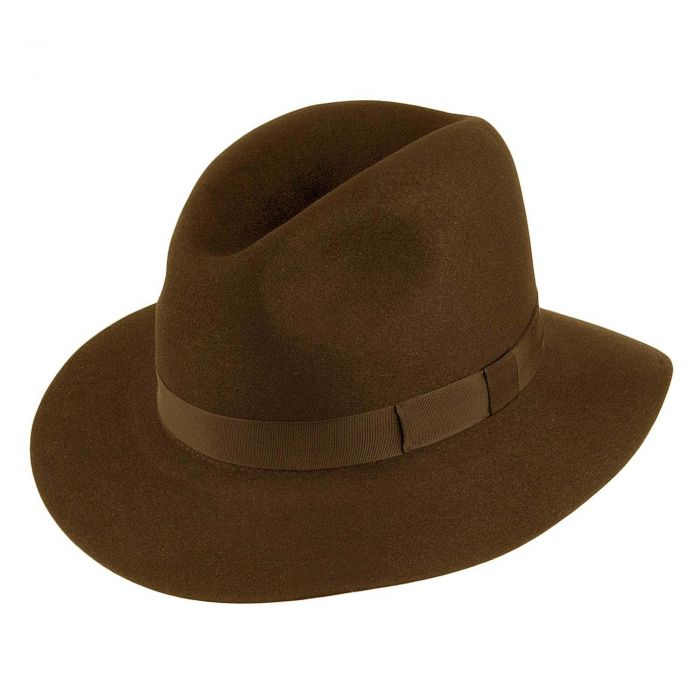 Brown Crushable Trilby Hat