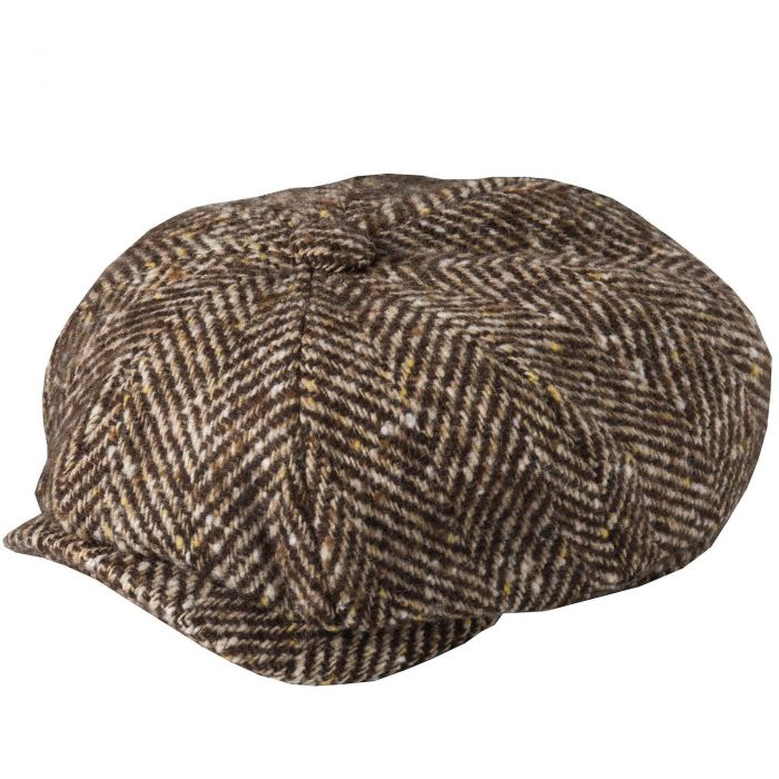 Brown Urban Piccadilly Tweed Cap