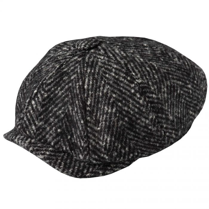 Charcoal Urban Piccadilly Tweed Cap