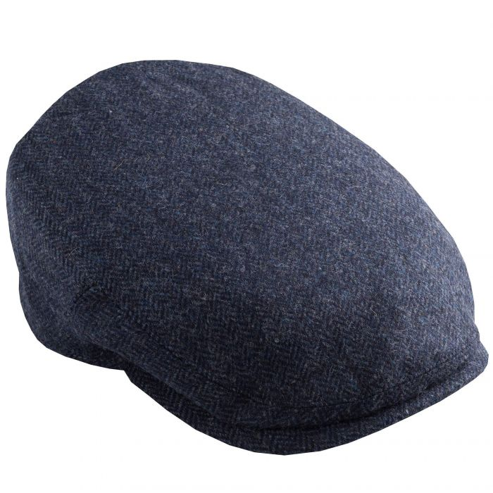 Blue Herringbone York Cap