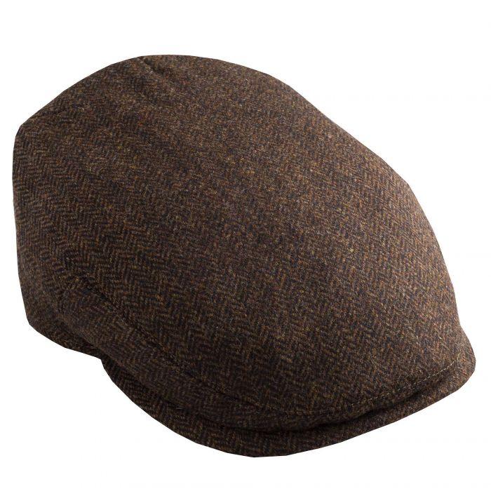 Brown Herringbone York Cap