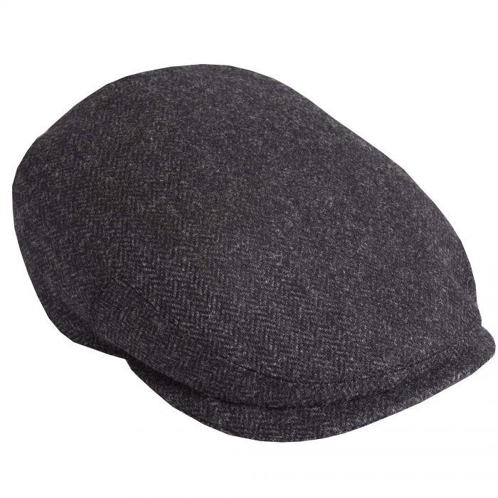 Grey Herringbone York Cap