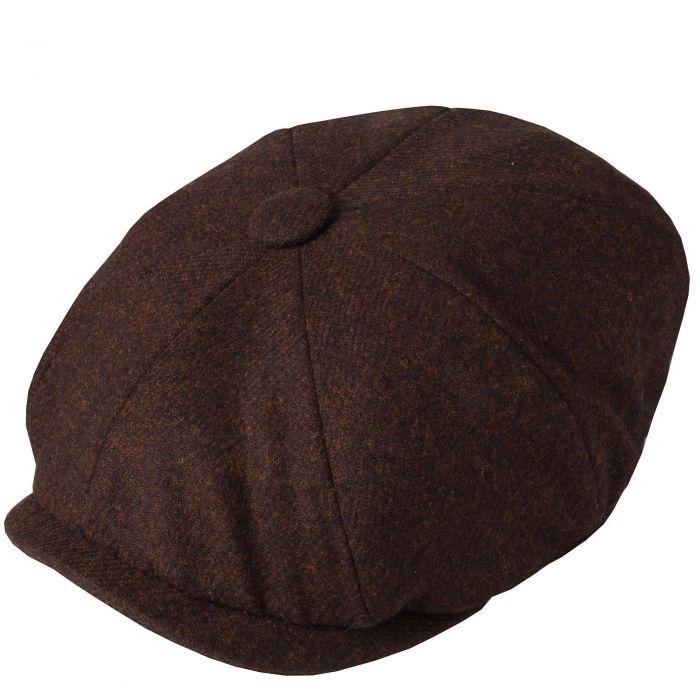 Brown Tweed Redford Curved Cap