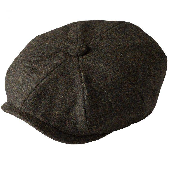 Green Grey Tweed Redford Curved Cap